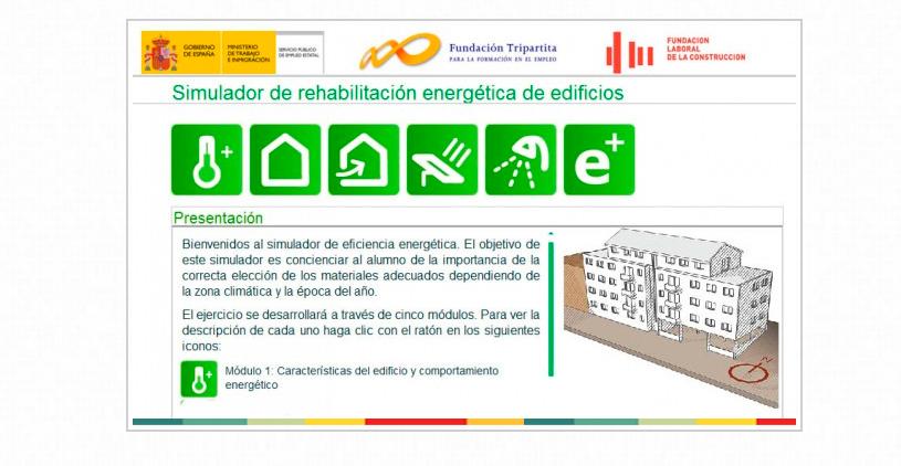 SIMULADOR DE REHABILITACION ENERGÉTICA DE EDIFICIOS. SENCILLA APLICACION DE LA FUNDACION LABORAL DE LA CONSTRUCCIÓN